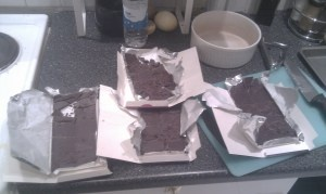 This is the amount of chocolate needed for a nice batch of Sloe Gin Truffles(Which we made for our Passover feast)