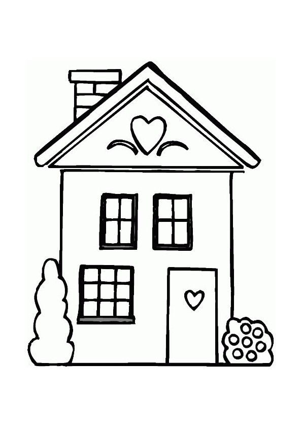 Pin By Khaldoun On Art House Drawing For Kids House Colouring Pages Coloring Pages