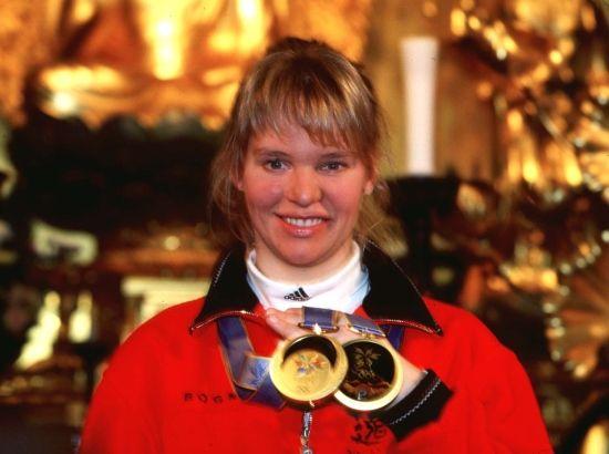 Olympiasiegeri Katja Seizinger Nagano 1998
