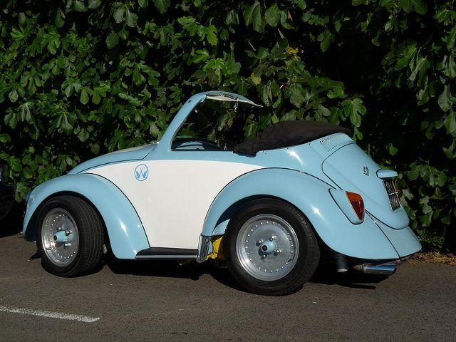 VW Volkswagen Beetle shortened road legal customBaby V Dub, Beetles Bugs, Beetles Baby, Beetles Shorteneda, Roads Legs Custom, Hot Water, Legally, Custom Volkswagen, Beetles Shortening