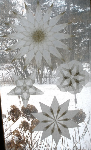 transparentpapier fenstersterne - besonders schön in weiß