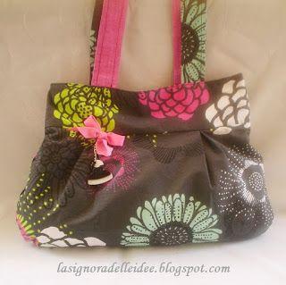 La Signora delle Idee: Fantasy Reversible Bag by Teresa con video tutoria...