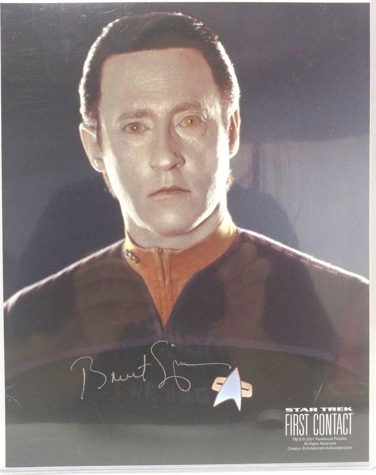 Data Star Trek Insurrection 8x10 Photo-Signed by Brent Spiner (LHAU-1120) | eBay