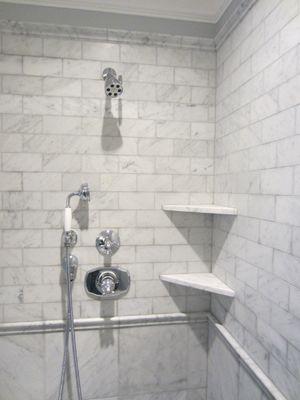 shelves in shower