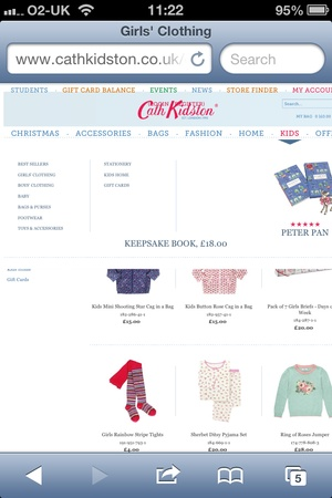 Great Cath Kidston case-study on the case for #mobileweb in #ecommerce