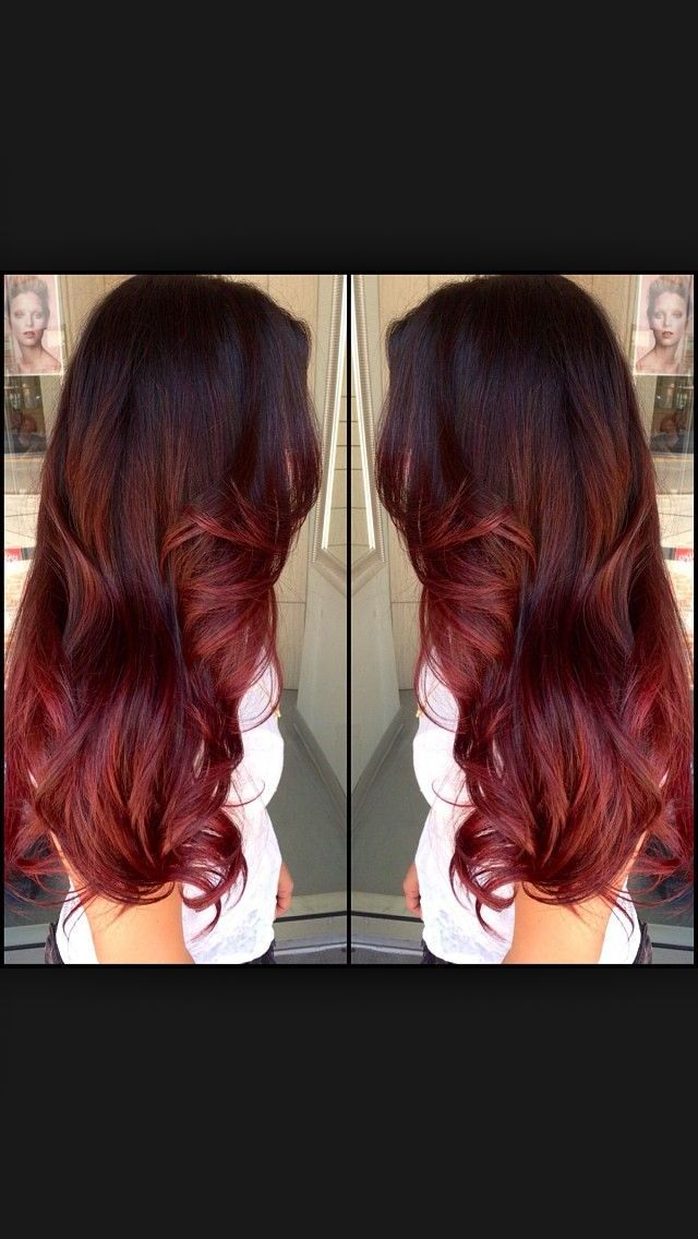 like how it looks to just below her neck...I want the auburn and if I do a balayage it will probably be into a red