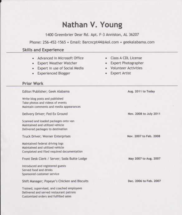 resume samples for self employed individuals - example resume sample resume young person