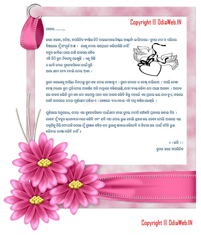 Odia Love Letter In Odia Language From Odia Lover - If you want to write an odia love letter to your lover then below is the letter for the Odia lovers.