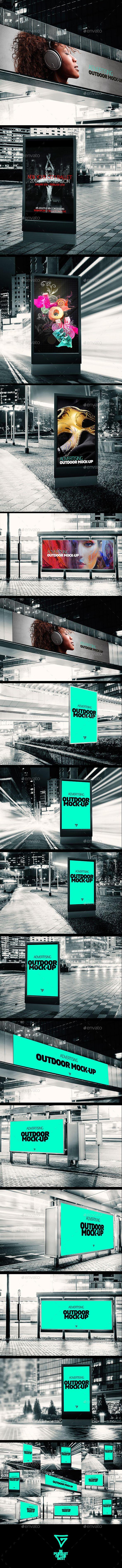 Outdoor Banner Advertising Mock-ups | Download: http://graphicriver.net/item/outdoor-banner-advertising-mockups/11024980?ref=ksioks