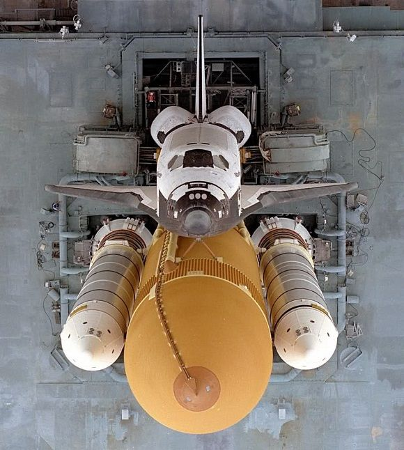 Image of shuttle from above