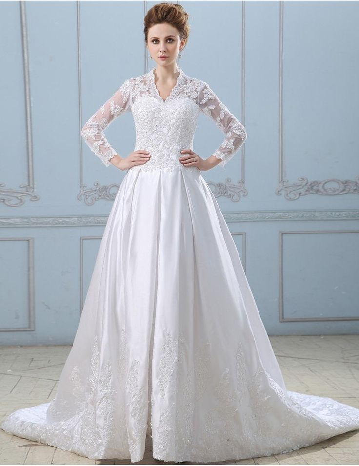 Traditional Wedding Gowns With Long Sleeves - Vosoi.com