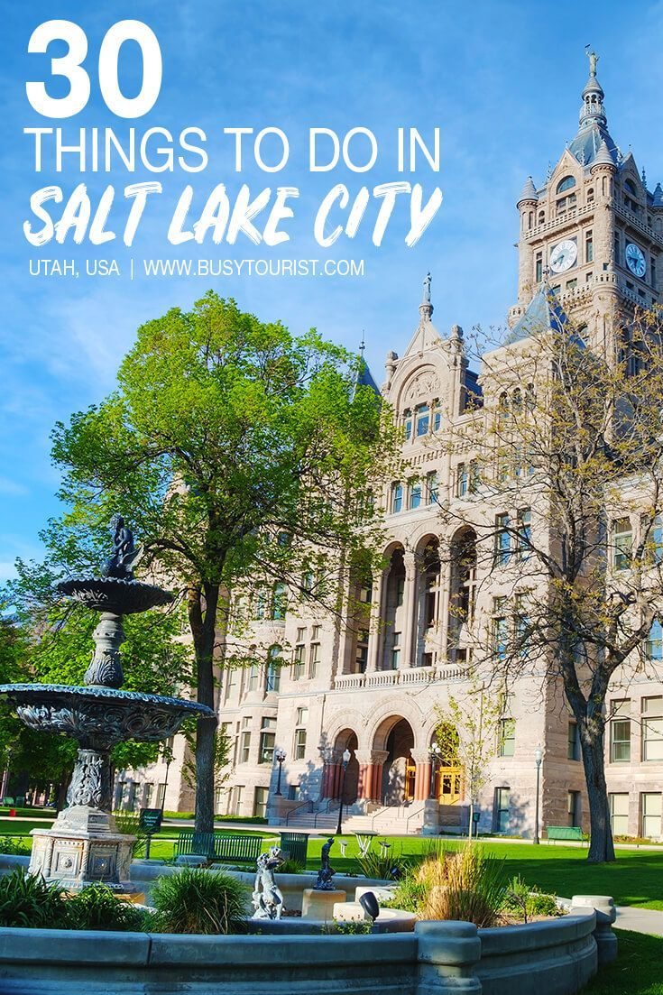 30 Best Fun Things To Do In Salt Lake City Utah In 2020 Utah Travel Us Travel Destinations Salt Lake City Utah