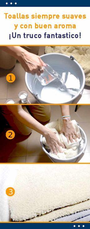 Toallas siempre suaves y con buen aroma. ¡Un truco fantastico! #toallas #lavar #lavado #suaves #consejos