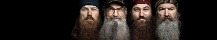 "I Love these camo wearing, bearded, hilarious duck call makers!!!   I could watch them all day...reality tv at it's best!!!  Favorite line to date uttered by the patriarch Phil Robertson...""scrubs are out...""  Seriously these guys kill me!!!"