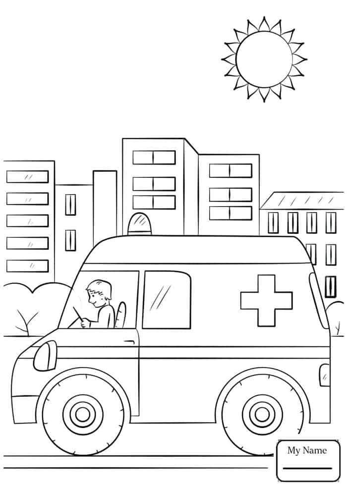 Bible Coloring Pages For Kids Helping Vehicles Ambulance Bible Coloring Pages Bible Coloring Coloring Pages For Kids