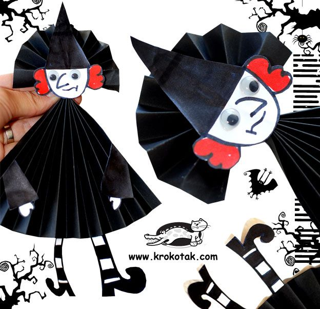 English    is    FUNtastic: Halloween Folded Paper Witch