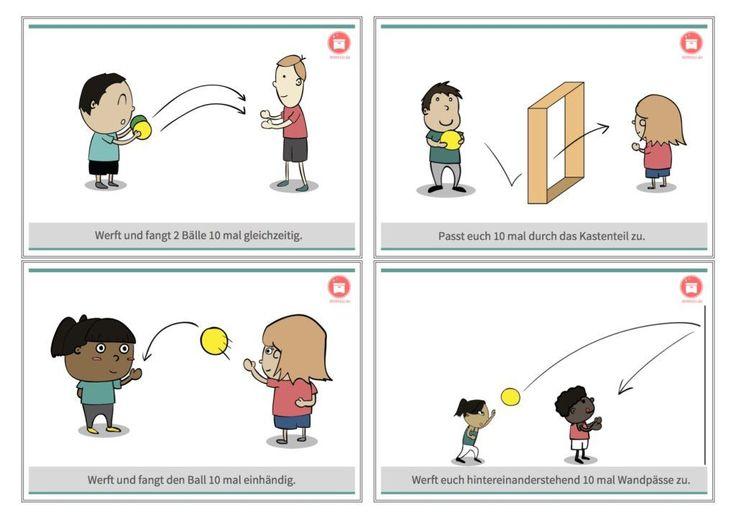 20 Gratis Ballschulkarten #sportunterricht #sportlehrer #sportlehrerin