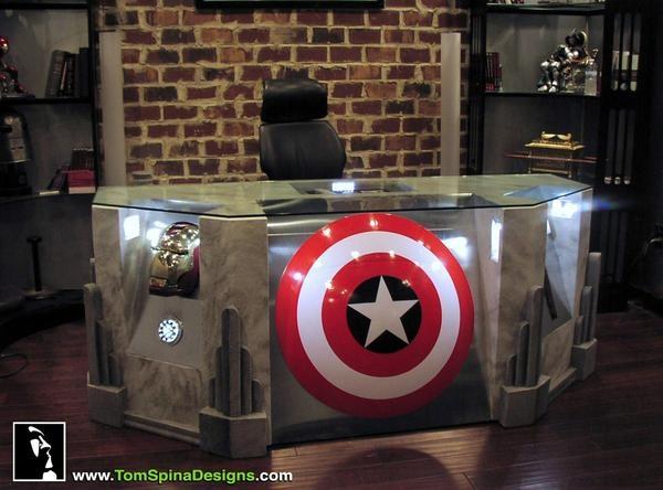 Avengers Themed Desk. SHUT UP AND TAKE MY MONEY!!!