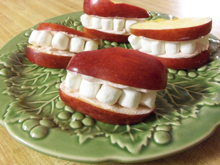 Healthy Preschool Snacks Ideas | Apple Smile Snack Nuttin' But Preschool