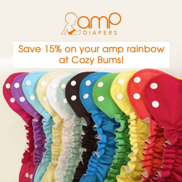 Save 15% on ALL in stock AMP products at Cozy Bums, now through July 7th!