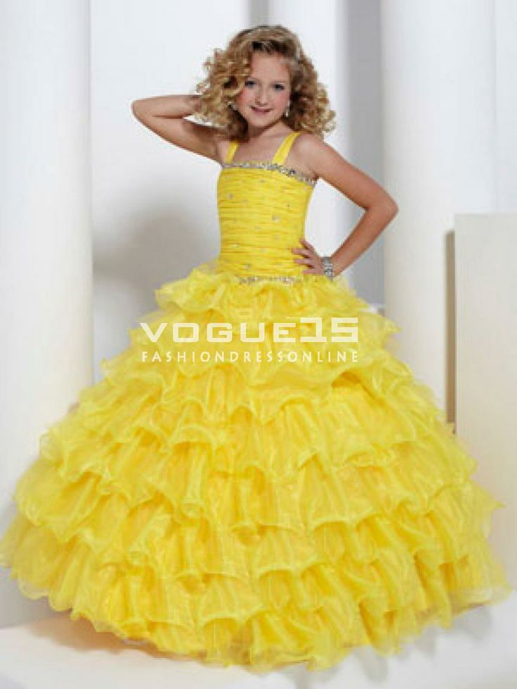 Interview Outfit for Little Girls | pretty straps beaded ruffles corset little girl pageant birthday dress ...
