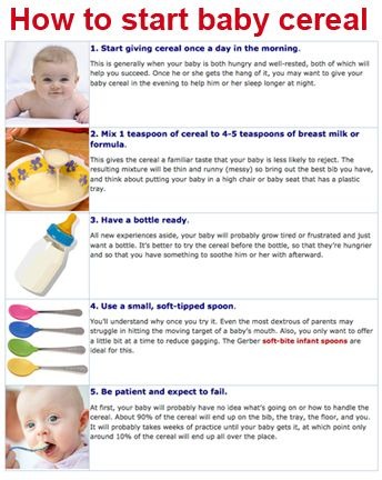 A guide to when your baby is ready for cereal and how to introduce it.