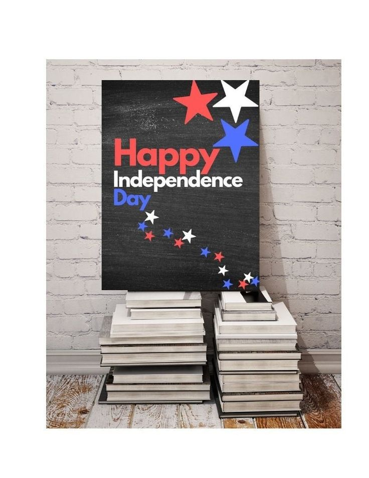 Printable 4th of July, Printable 4th of July decor, Digital Chalkboard Sign, Independence Day decor, red white and blue, Digital Download