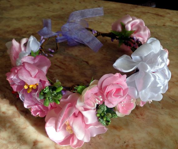 Flower Crown is ideal for weddings and от RibbonEmbroiderySilk