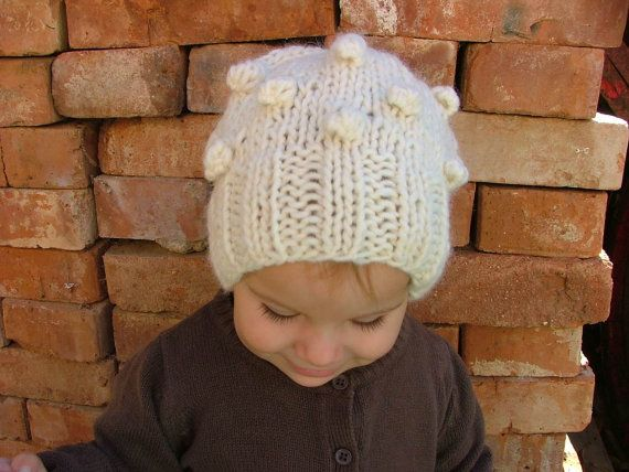 Knitting PATTERN ONLY for Bobble Stitches Hat $5.00 USD