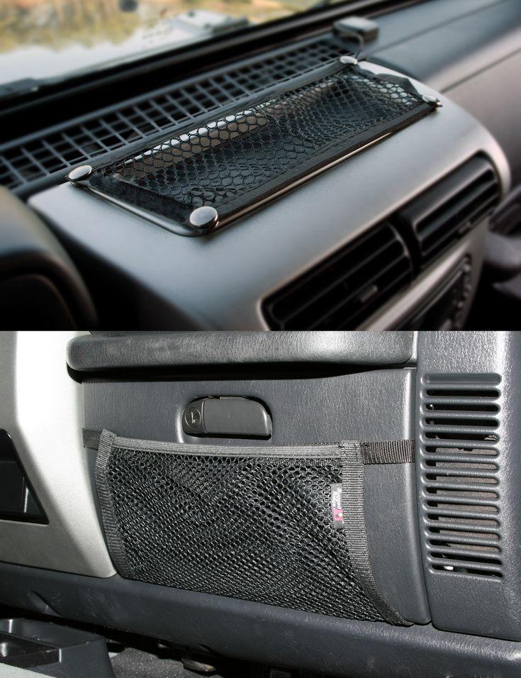 Glove Box And Trail Dash Net Kit; 97-06 Jeep Wrangler TJ