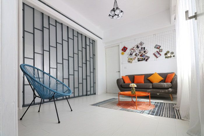 Industrial apartment, white, light, space