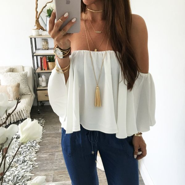 Santorini Off The Shoulder Top
