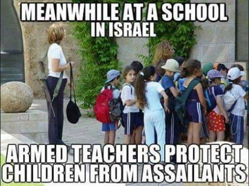 I believe EVERY school in America should have armed security and staff