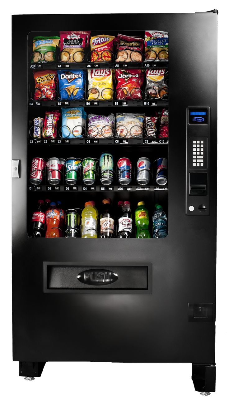 The Seaga Infinity range includes model INF5C, a refrigerated snack and cold drink combo vending machine that offer outstanding variety of product in an efficient space.