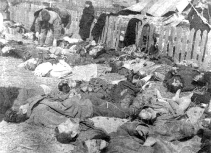 The victims of the UPA massacre at Lipniki in 1943
