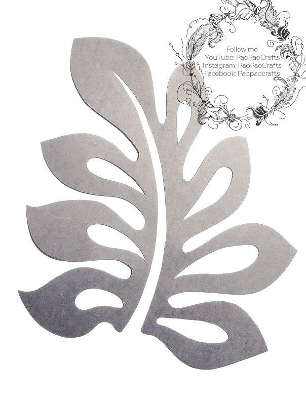 Patrones Hojas Flores Papel Moldes Paper Flowers Diy
