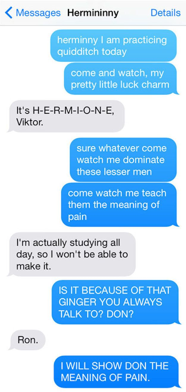 "This cracks me up. And then the second one from Ron is also fantastic 12 Texts From The ""Harry Potter"" Universe"