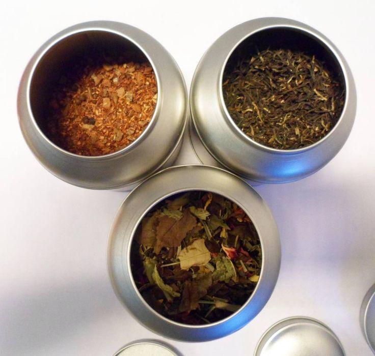 E20,- // 3blikken INCLUSIEF Thee. Aanbieding bewaarblikken met losse thee van Van Bruggen Thee - van Bruggen Thee