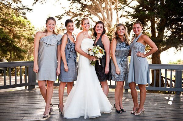 mismatched bridesmaid dressesOccasion Events, Bridesmaid Dresses, Gray Bridesmaid, Bridal Parties, Bliss, Hailey Stuff, Bridesmaid Wear, Mis Matching Ideas, Mismatched Bridesmaid