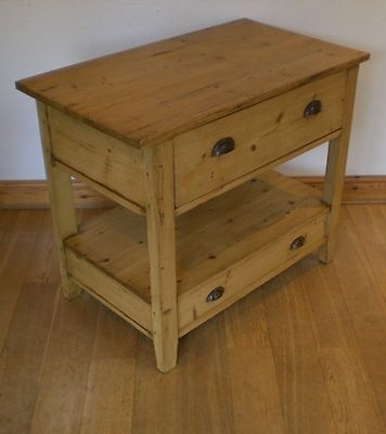 gorgeous old pine free standing kitchen island butchers block sideboard drawers