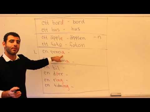 Svenska språket på arabiska (plural) - YouTube