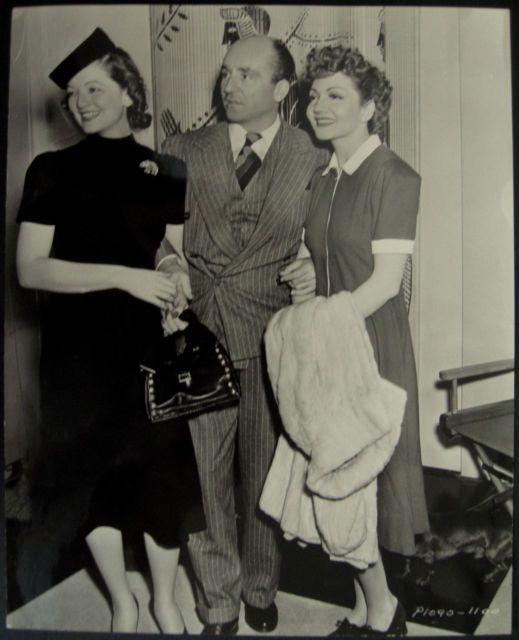Myrna Loy, her husband Arthur Hornblow Jr. and Claudette ...