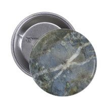 Stone with cross vein pinback button