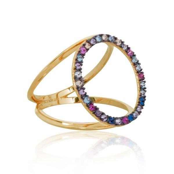 #EC One Katie Rowland Ring |Wawa Rainbow Circle Gold Ring