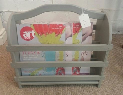 Just finished this painted magazine rack. Available in store now :-)