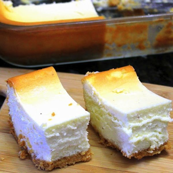 EggNog Cheesecake Bars have just been included on my Thanksgiving menu.