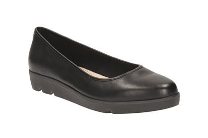 Clarks Evie Buzz - Black Leather - Womens Casual Shoes | Clarks