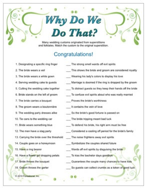 wedding trivia why do we do that tradition with trivia questions answers bridal shower game wedding pinterest bridal shower games bridal shower