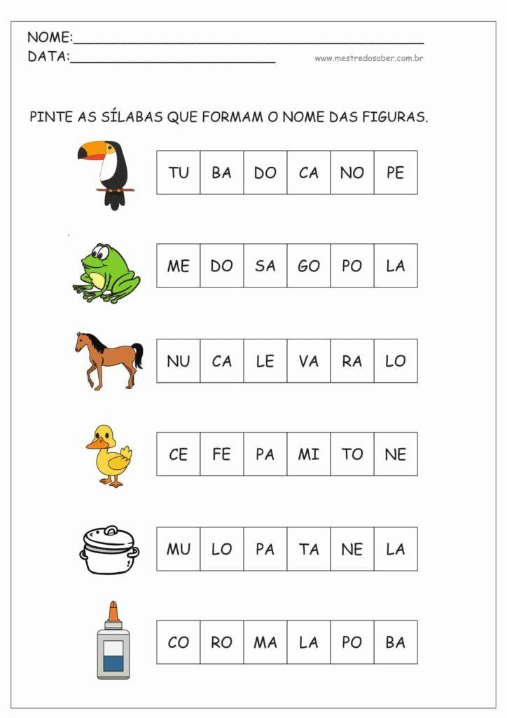 Atividades Com Silabas Atividades Educativas De Alfabetizacao