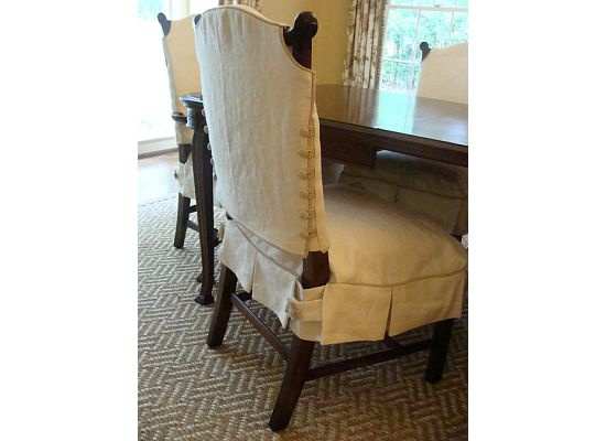 Nice Details On This Dining Chair Slipcover